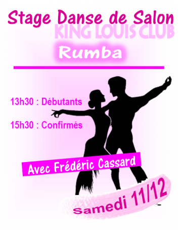 Stage de Rumba avec Frédéric Cassard