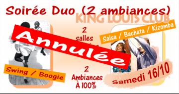 Annulation Soirée DUO du 16/10/2021